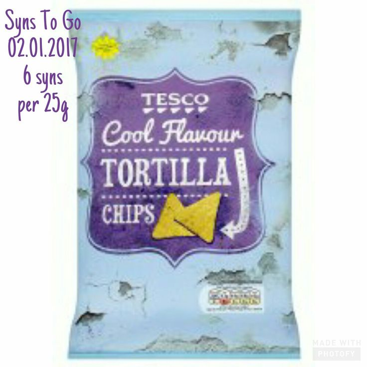 How many syns in Tesco cool flavour tortilla chips (Tesco version of the blue Doritos nachos crisps)? Search Syns To Go on Facebook.
