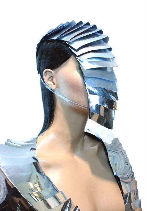futuristic armadilla nautilus goggles mask , sci fi, cyber eyewear, armour mask, goggles,headpiece