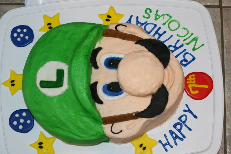 Luigi cake for my son