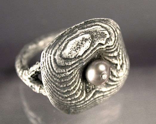 sand and cuttlebone cast ring by Noel Yovovich - Quick Silver Casting: 6+ Metal Casting Techniques from Noël Yovovich - Jewelry Making Daily