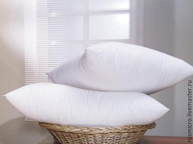 """Купить Подушка для сна """" Антистресс"""" 50/70 - белый, подушка в подарок, подушка диванная"""