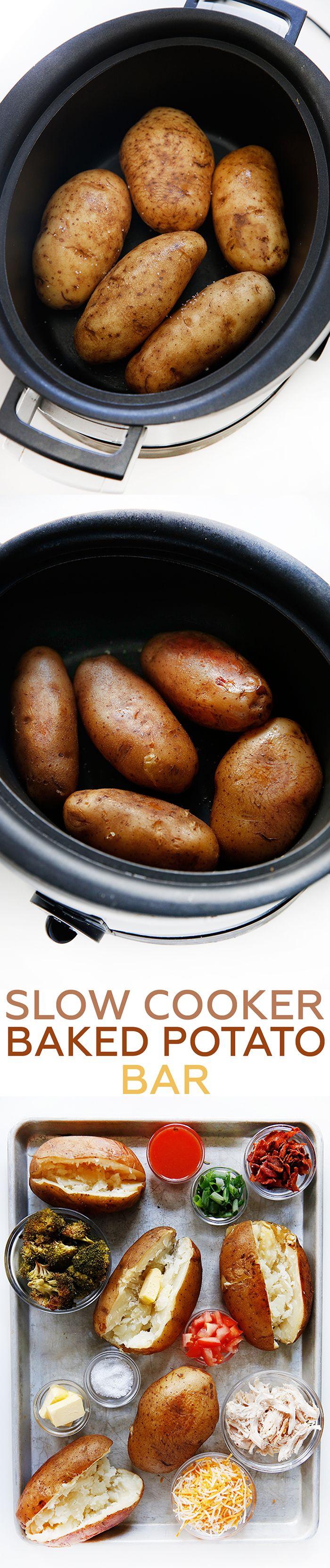 Slow Cooker Baked Potato Bar - Lexi's Clean Kitchen