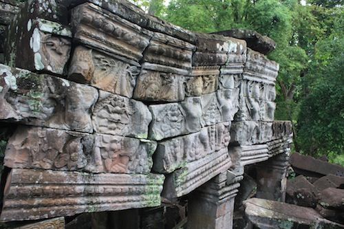 Reliefs at Banteay Chhmar in Cambodia