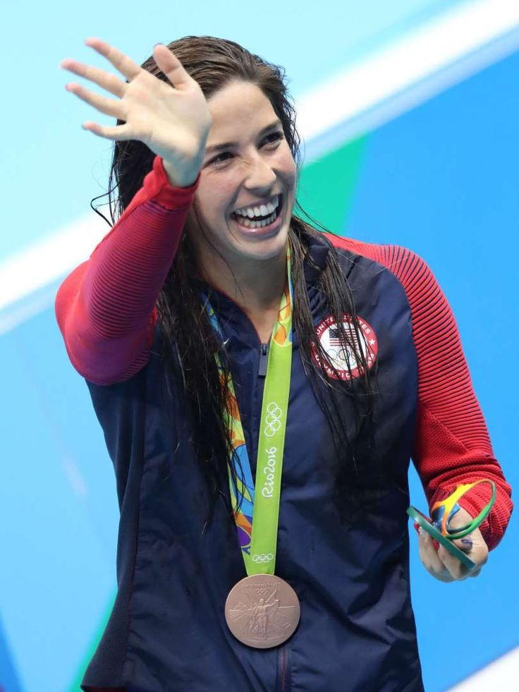 Olympics: Swimming-Evening Session - Maya DiRado claimed the bronze medal in the women's 200-meter IM.