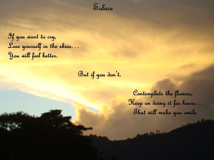 """Solace"", a little piece from Life in Rhymes, and the only poem I've ever created in both a Portuguese and English version - Part I"