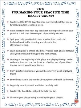 A one page handout of TEN practice tips. FREE download.