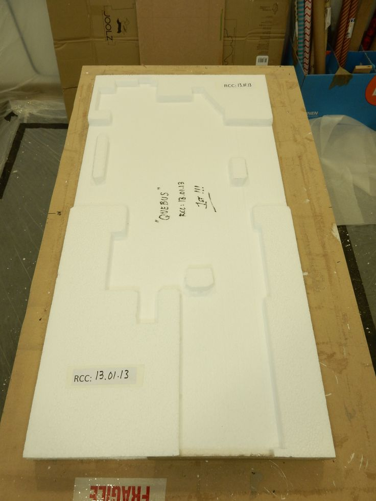 PACKAGING QUEBUS - The frame will be surrounded by solid foam...
