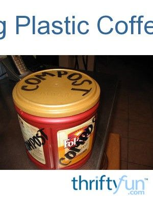Ground coffee can now be found in reusable plastic containers with a tight fitting lid and handle. They are perfect for storage and crafts. This is a guide about reusing plastic coffee cans.