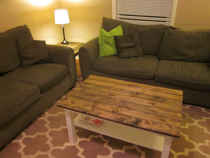 It's A Long Story: Coffee Table Makeover: Wood Plank Table Top (Ikea Hack)