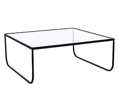 Table basse, transparent et noir - L84                              …