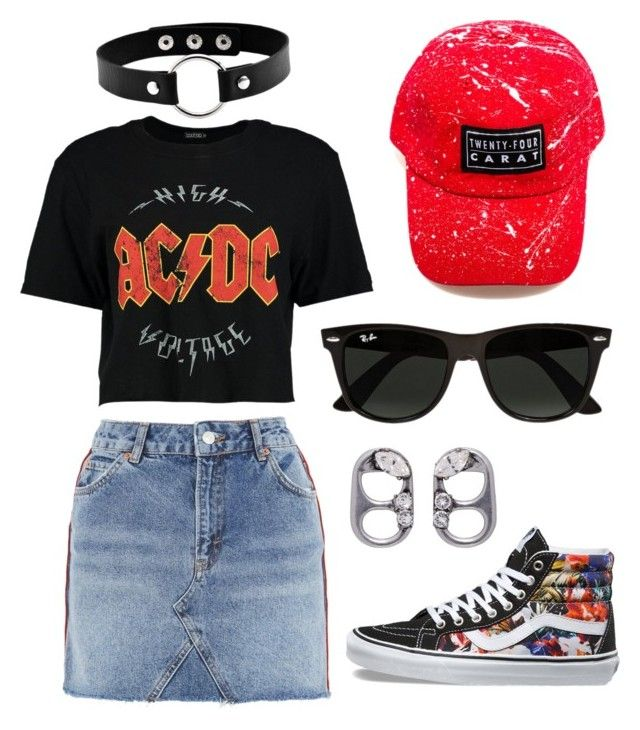 """""""AK97"""" by ak-97 on Polyvore featuring Vans, Topshop, Marc Jacobs, Boohoo and Ray-Ban"""