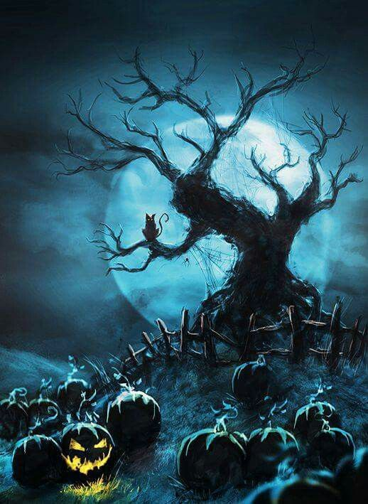 Halloween pinterest and night