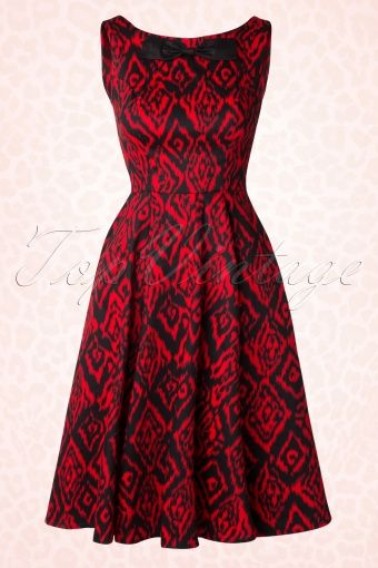 Hearts and Roses Rockabilly Red Swing Dress 102 27 15183 20150226 0009W