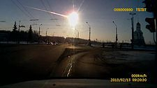 "Footage of a superbolide [meteor] exploding over Chelyabinsk Oblast, Russia on 15 February 2013 at about 09:20 a.m. - VIDEO by Aleksandr Ivanov, via Wikipedia;  ""A bolide ... is an extremely bright meteor, especially one that explodes in the atmosphere. In astronomy, it refers to a fireball about as bright as the full moon, and it is generally considered a synonym of a fireball."""