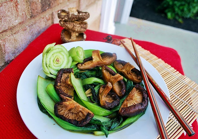 Baby Bok Choy with Shiitake Mushrooms | Love Asian Food! | Pinterest
