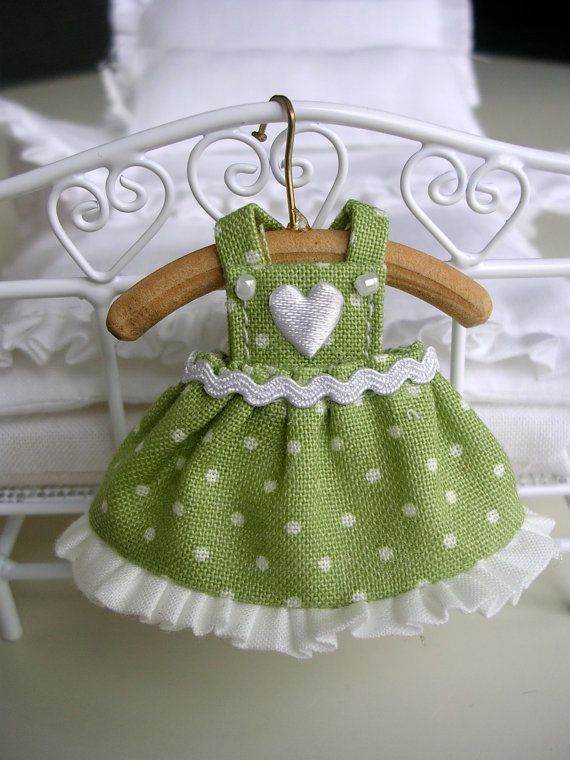 112 scale dress for doll girl  dollhouse dress clothes by ForElfy