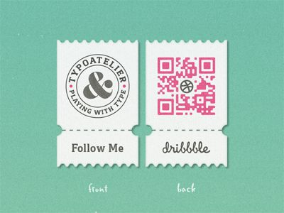 My Dribbble »QR« Coupon ... by Arno Kathollnig