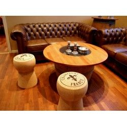 Quirky and stylish furniture: cork stools with logo print. excellent gift or furniture piece for lounge, sitting room, office, movie, games, pool or bar rooms. |Free delivery in Australia at Red Wrappings|