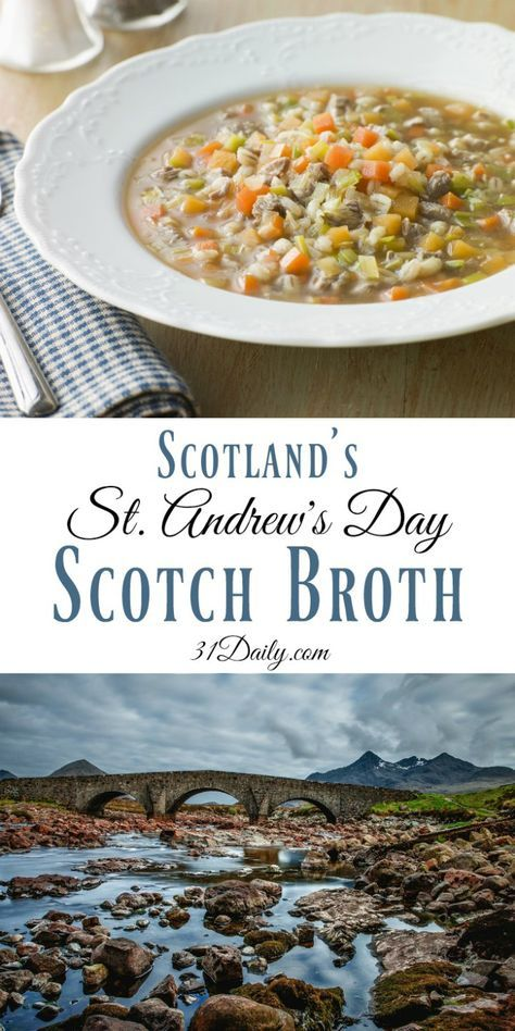 Celebrating St. Andrew's Day with Traditional Scotch Broth Soup Recipe   31Daily.com