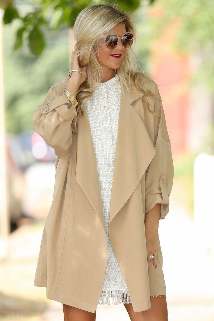 Made For Manhattan Camel Coat at reddressboutique.com