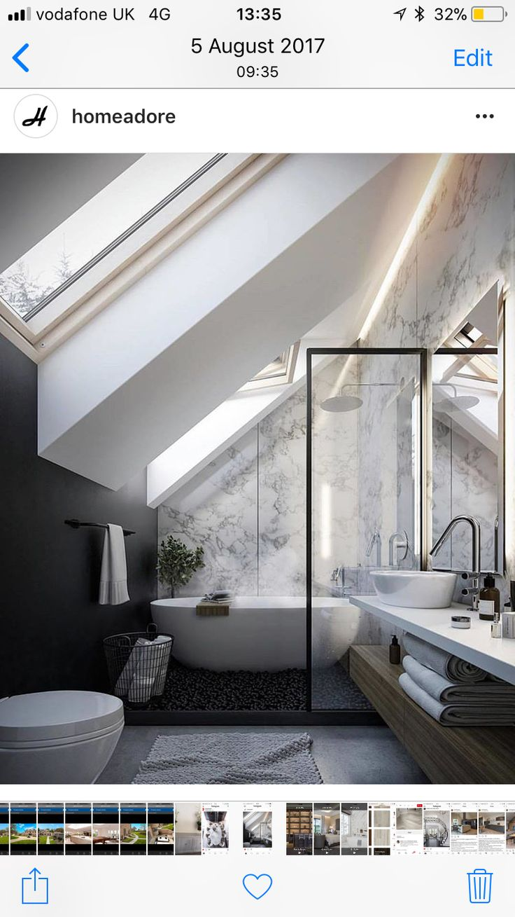 Great idea and spec for front facing slope ensuite in a loft