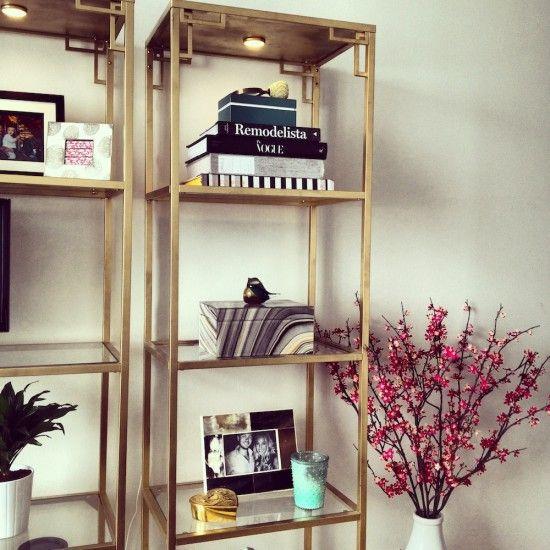 how to make metal shelves look nice