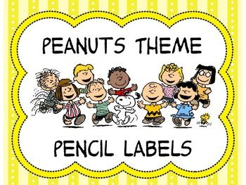The labels are used for your pencil jars for sharpened and dull pencils. They are Peanuts theme with Charlie Brown and Snoopy.