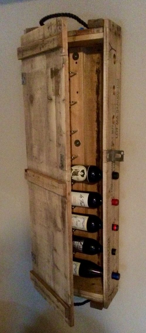 11 best repurposed ammo boxes images on pinterest ammo for Crate wine rack diy