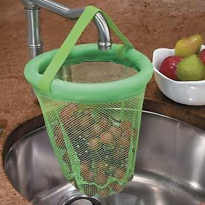 Produce Washing Net: Clean fruits and vegetables in less time using this net; just put it over your faucet while you rinse your fresh fruits and vegetables.