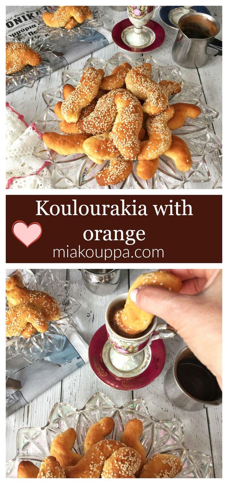 Koulourakia with orange (Νηστίσιμα κουλουράκια με πορτοκάλι).  Try this delicious vegan, and nistisima recipe of Greek koulourakia #koulourakia #greek #greekbaking #greekrecipes #nistisima