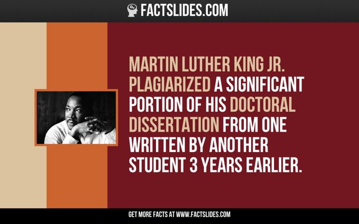 dissertation of martin luther king Martin luther king, jr, as scholar: a reexamination of his  doctoral dissertation this tendency to downplay king's scholarly abilities and aspi.