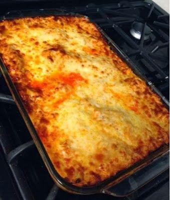 My husband's favorite buffalo chicken lasagna