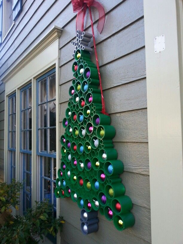 Christmas Tree Made From Pvc Pipe Christmas Diy