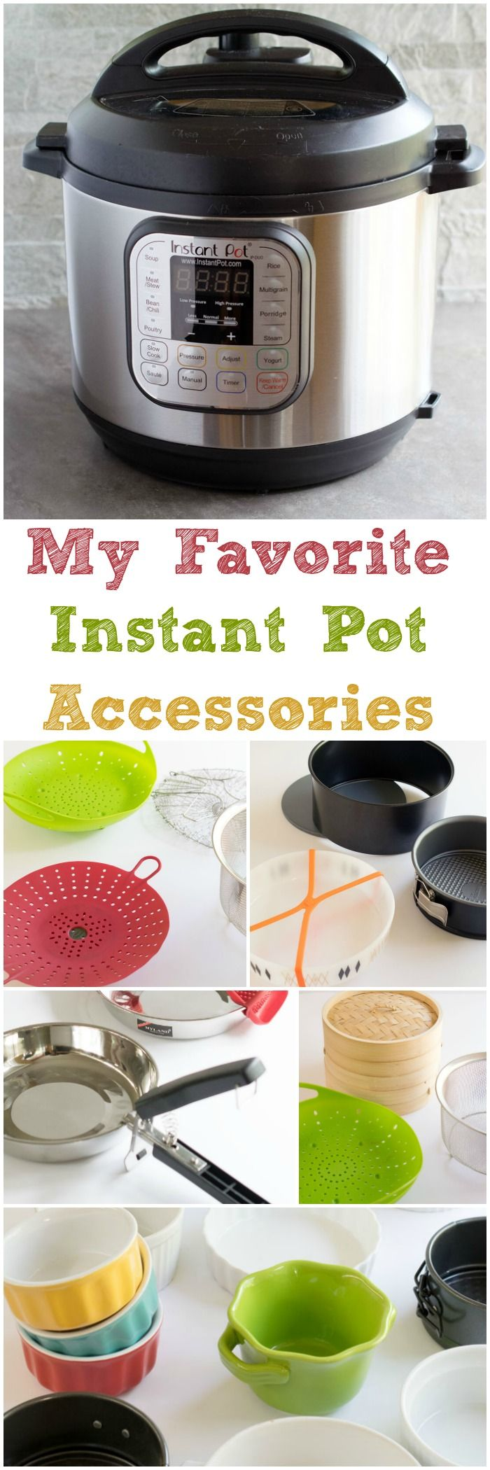 I'm sharing my favorite Instant Pot Accessories. They will help you squeeze lots of use from your Instant Pot.