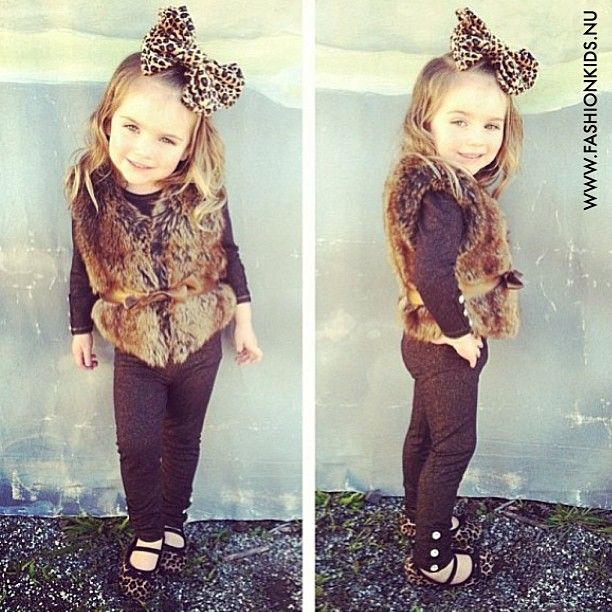 Oh my cute! my little girl will be in animal print :]