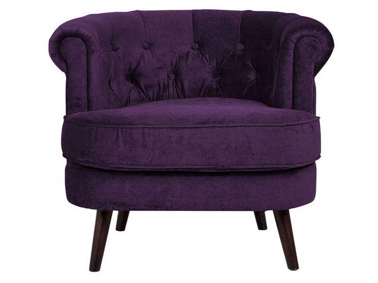 Fauteuil FELIX coloris violet - Conforama