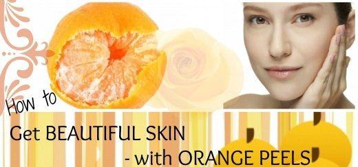 Homemade easy orange peel face packs