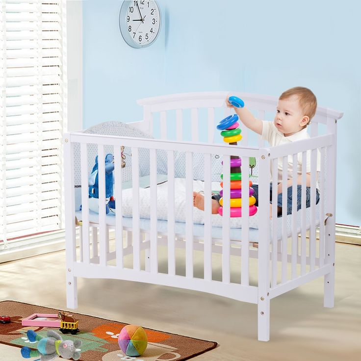 #Convertible #Baby #Crib #Toddler #Bed #Daybed #Solid #Pine #Wood #Children #Infant #Nursery