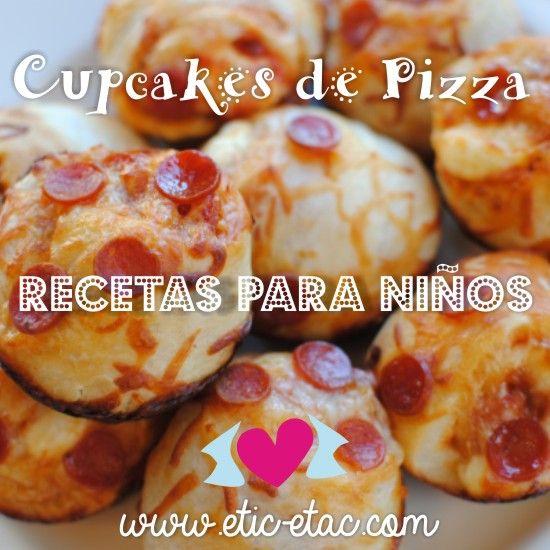 Recetas para niños: cupcakes de pizza