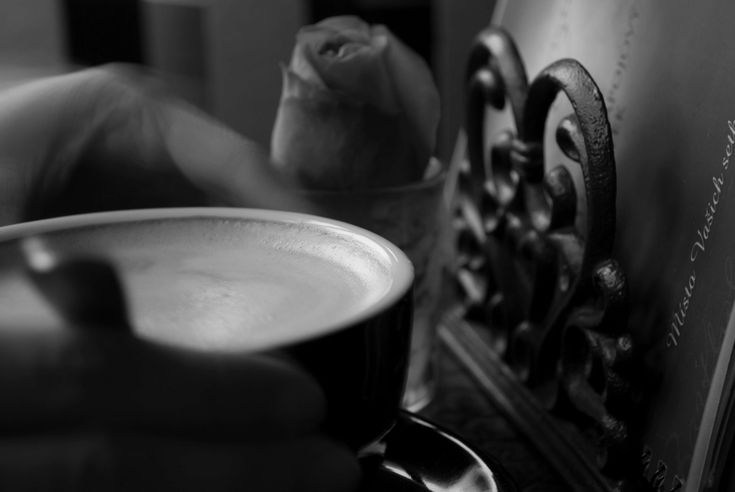 #coffee #hand #restaurant #rose #table
