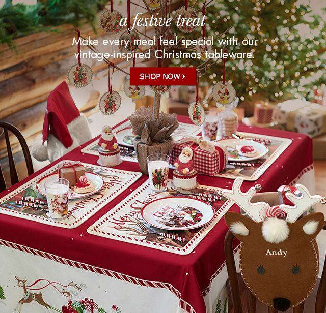 Pottery Barn children's table setting