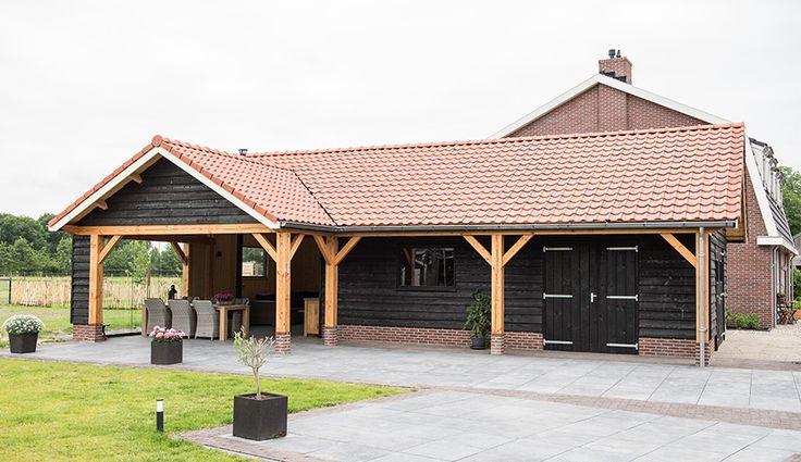 11 best garage met veranda images on pinterest garage for Berging met veranda
