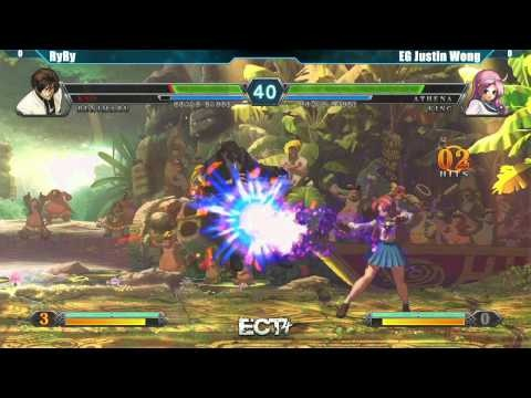 ECT4 Tournament King of Fighters XIII Top 8 - RyRy vs EG Justin Wong #KOFXIII