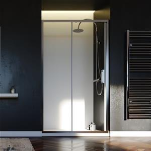 Box doccia nicchia da 120 cm trasparente scorrevole Fast
