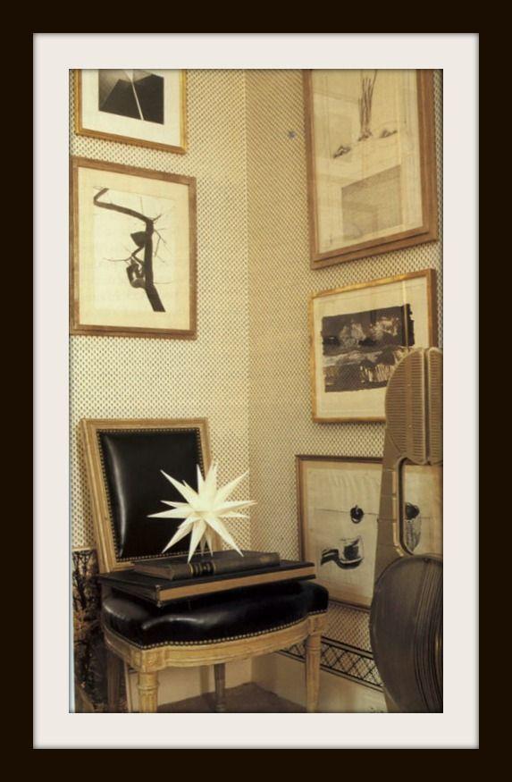 Albert Hadley-so personal and wonderful-very scorpio-the black and white scheme...