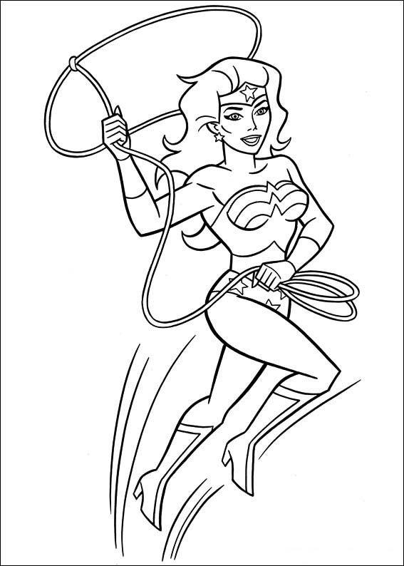 Wonder Woman Mujer Maravilla dibujos para Colorear para niños 37 ...