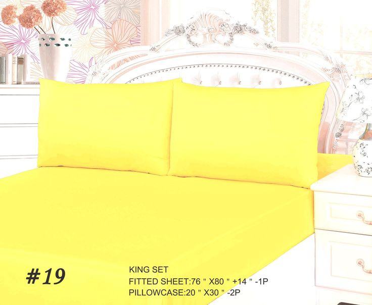 Tache 2-3 Piece Banana Yellow Bed Sheet Set (Fitted Sheet)