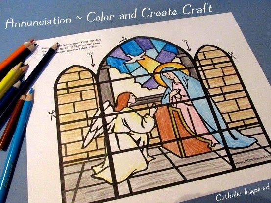 a cute and easy craft for Annunciation.