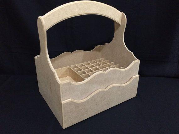 Nail Polish Organizer Storage Box with Dividers by CLVLArtsBrazil