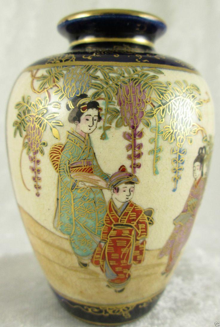 86 Best Satsuma Art Pottery Images On Pinterest Japanese Porcelain Vases And Japanese Pottery
